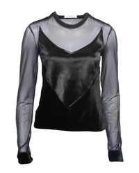 Givenchy | Black Velvet and Pony Top | Lyst