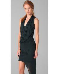 Helmut Lang - Black Long Drape Dress - Lyst