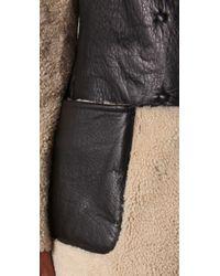 JOSEPH - Black Riga Reversible Shearling Coat - Lyst