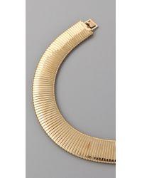 Kenneth Jay Lane - Metallic Thick Snake Chain Bib Necklace - Lyst