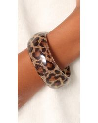 Kenneth Jay Lane | Multicolor Leopard Print Bangle | Lyst