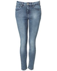 TOPSHOP - Blue Jamie High Waisted Ankle Grazer Skinny Jeans - Lyst