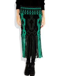 Proenza Schouler - Black Open-weave Cotton-blend Macramé Skirt - Lyst