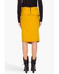Proenza Schouler | Yellow Blanket Wrap Skirt | Lyst