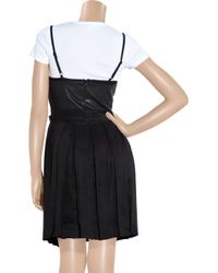 Rag & Bone - Black Francis Leather and Linen-blend Dress - Lyst