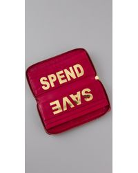 Rebecca Minkoff | Red Spend / Save Wallet | Lyst
