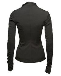 Rick Owens | Black Asymmetrical Zip-up Jacket | Lyst