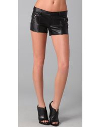 Siwy | Black Magnolia Leather Shorts | Lyst