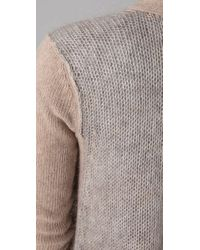 Theory - Gray Ebelle Cardigan - Lyst
