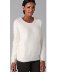 Theory - White Jaidyn Sweater - Lyst