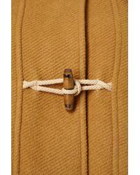 TOPSHOP | Yellow Bound Seam Duffle Coat | Lyst