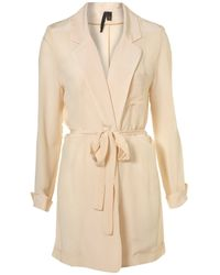 TOPSHOP - Natural Nude Silk Pyjama Jacket By Boutique - Lyst