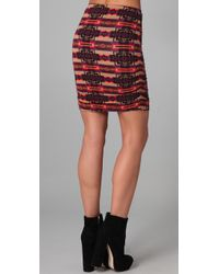 Torn By Ronny Kobo - Brown Sarah Aztec Ruched Skirt - Lyst