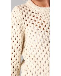 Adam Lippes - Natural Open Knit Jumper - Lyst