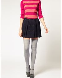 ASOS Collection - Gray Asos Wool Cable Over The Knee Socks - Lyst