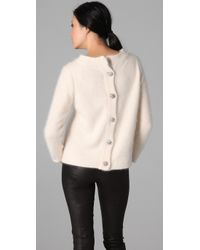 By Malene Birger - Natural Fasu Button Back Sweater - Lyst
