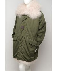 Givenchy - Green Fur-trim Parka - Lyst