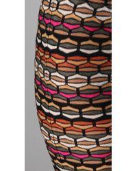 M Missoni   Black Honeycomb Knit Tube Skirt   Lyst