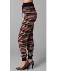 M Missoni - Red Tie Waist Pants - Lyst