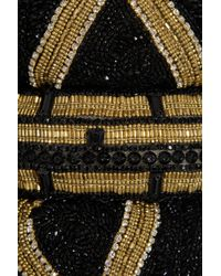 Marchesa | Black Embellished Asymmetric Jersey-blend Dress | Lyst