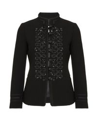 Boutique Moschino | Black Military Jacket | Lyst