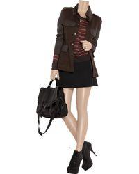 Rag & Bone | Brown Leigh Wool and Leather Safari Jacket | Lyst