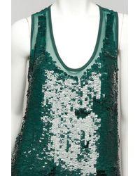 Stella McCartney - Green Sequin Tank - Lyst