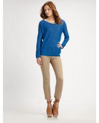 Vince | Blue Linen Boatneck Sweater | Lyst