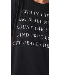 Wildfox | Black Runaway Donovan T-shirt | Lyst