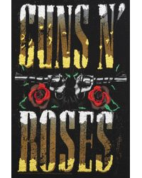 TOPSHOP - Black Guns and Roses Embroidered Tank Top - Lyst