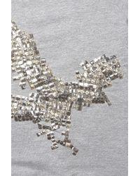 TOPSHOP - Gray Studded Eagle Sweatshirt - Lyst