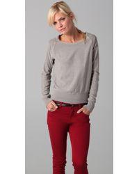 James Perse | Gray Vintage Sweatshirt | Lyst