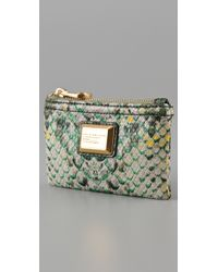 Marc By Marc Jacobs | Green Supersonic Snake Printed Key Pouch | Lyst