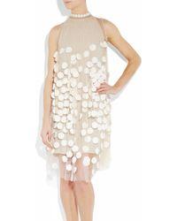 Stella McCartney | Natural Spot-appliquéd Tulle Dress | Lyst