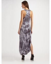 Reformation | Purple Beirut Tie-dyed Silk Charmeuse Maxi Dress | Lyst