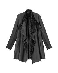 Toast | Gray Sheepskin Wrap Coat | Lyst