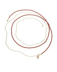 Astley Clarke - Red Biography Beaded Charm Necklace - Lyst