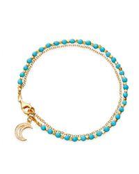 Astley Clarke | Metallic Turquoise Moon Biography Bracelet | Lyst