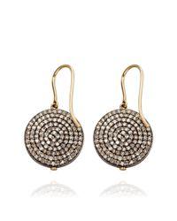 Astley Clarke | Metallic Diamond Disc Earrings | Lyst