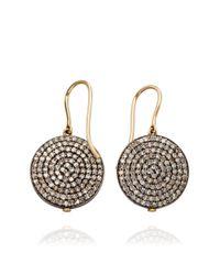 Astley Clarke - Metallic Diamond Disc Earrings - Lyst
