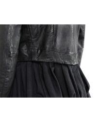 Bolongaro Trevor | Mansi Black Leather Coat Dress | Lyst