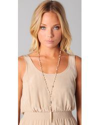 Chan Luu | Natural Rosary Necklace with Horn Pendant | Lyst
