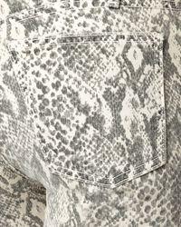 Current/Elliott   Gray Boa-print Skinny Jeans, Canvas   Lyst