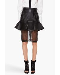 Givenchy | Black Faux Leather Skirt | Lyst
