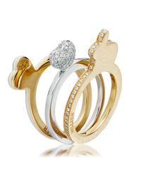 Hillier | Yellow Bunny Love Ring | Lyst