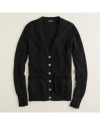 J.Crew | Black Collection Cashmere Boyfriend Cardigan Sweater | Lyst