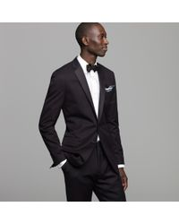 J.Crew - Black Ludlow Two-button Tuxedo Jacket with Double-vented Back in Italian Chino for Men - Lyst