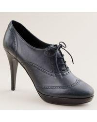 J.Crew | Black Pierce High-heel Oxfords | Lyst