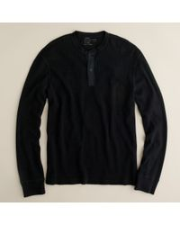 J.Crew | Black Spindletop Waffle Henley for Men | Lyst