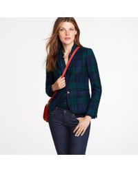 J.Crew | Blue Blackwatch Plaid Wool Blazer | Lyst